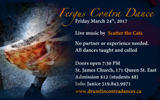 March 24th Contra Dance with Scatter the Cats