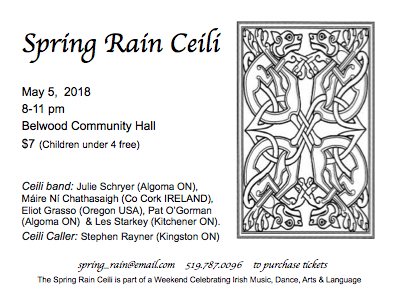 Spring Rain Community Ceili @ Belwood Hall | Belwood | Ontario | Canada