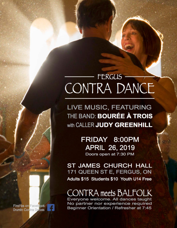 APRIL Poster 2019 - April Showers - Contra && Balfolk Dance